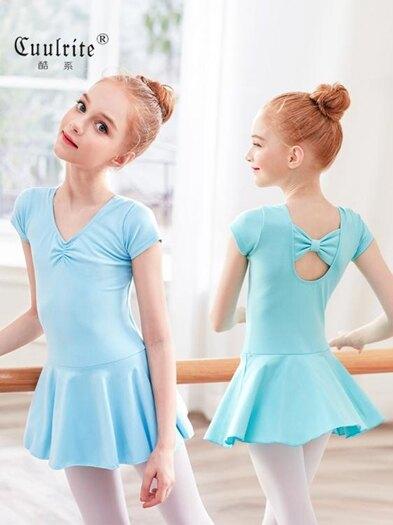 舞蹈服兒童女練功服夏季短袖女孩演出公主芭蕾舞裙女童中國舞服裝 童趣屋