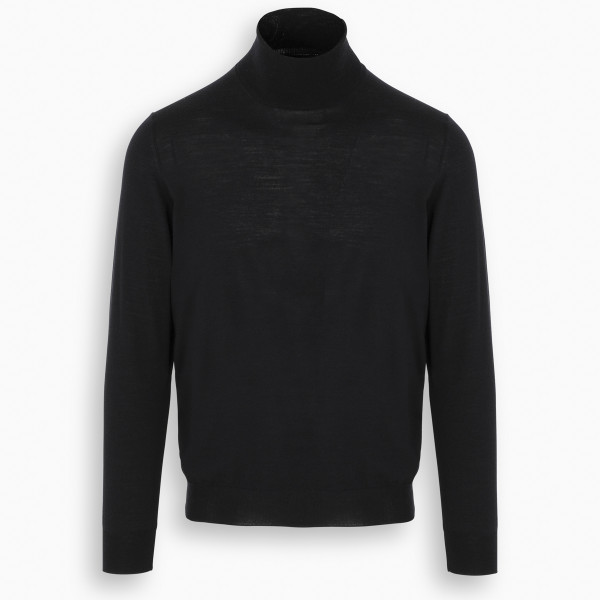 Drumohr Blue turtle-neck sweater