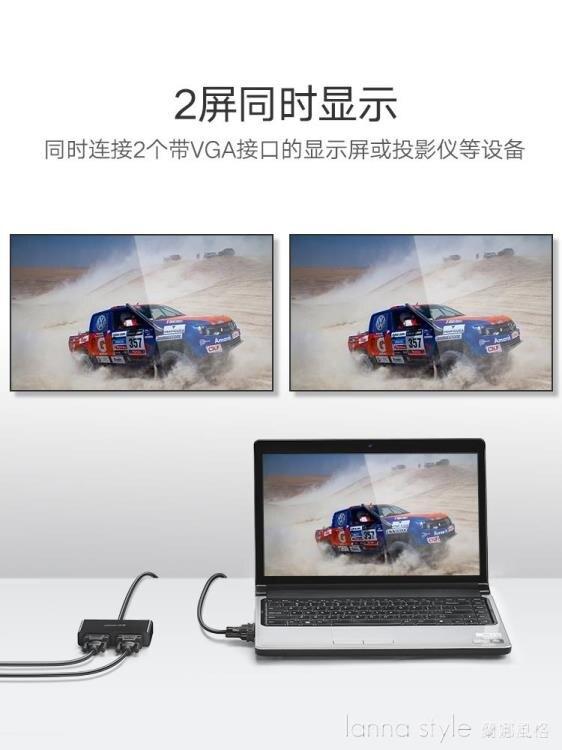 搶先福利 vga分配器一進二出電腦視頻轉換器主機電視投影儀高清1080p 夏季狂歡爆款