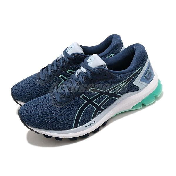 Asics 慢跑鞋 GT-1000 9 藍 綠 女鞋 舒適緩震 輕量 運動鞋 【ACS】 1012A651405