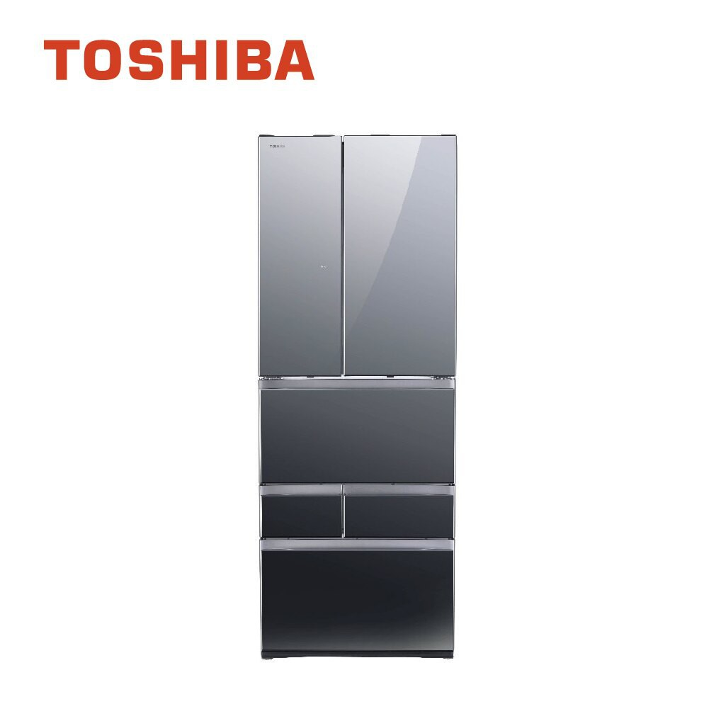 【TOSHIBA 東芝】 601L 無邊框玻璃六門變頻電冰箱 一級能效 GR-ZP600TFW