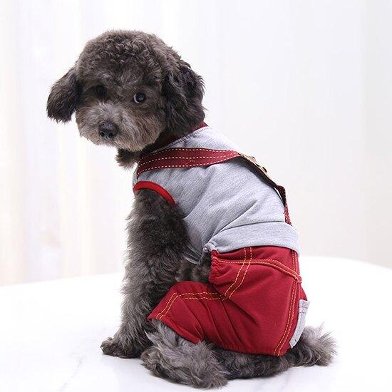 可愛小熊假吊帶式連身上衣/連身褲-小樂寵-99購物節