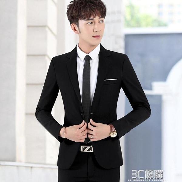 西裝外套 西服套裝男士韓版修身伴郎新郎結婚正裝商務休閒職業小西裝外套男 3C優購