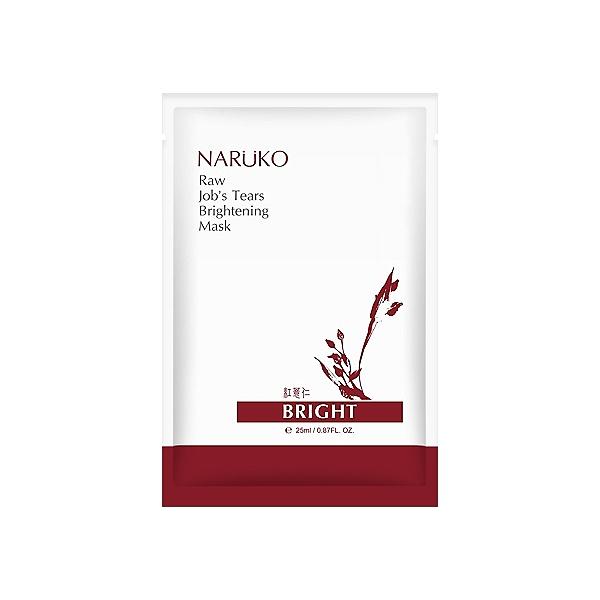 NARUKO 紅薏仁健康雪白面膜(10片入)【小三美日】