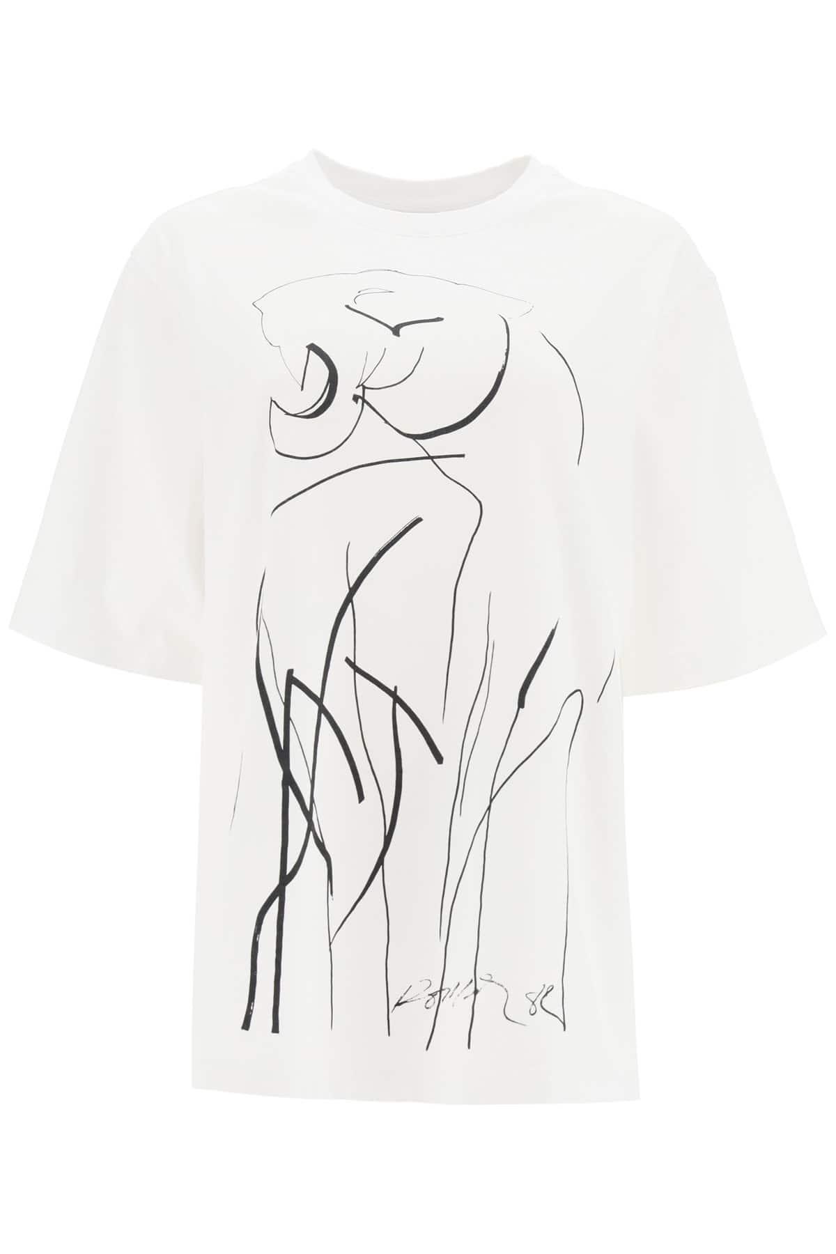 KENZO TIGER OVERSIZED T-SHIRT S White, Black Cotton