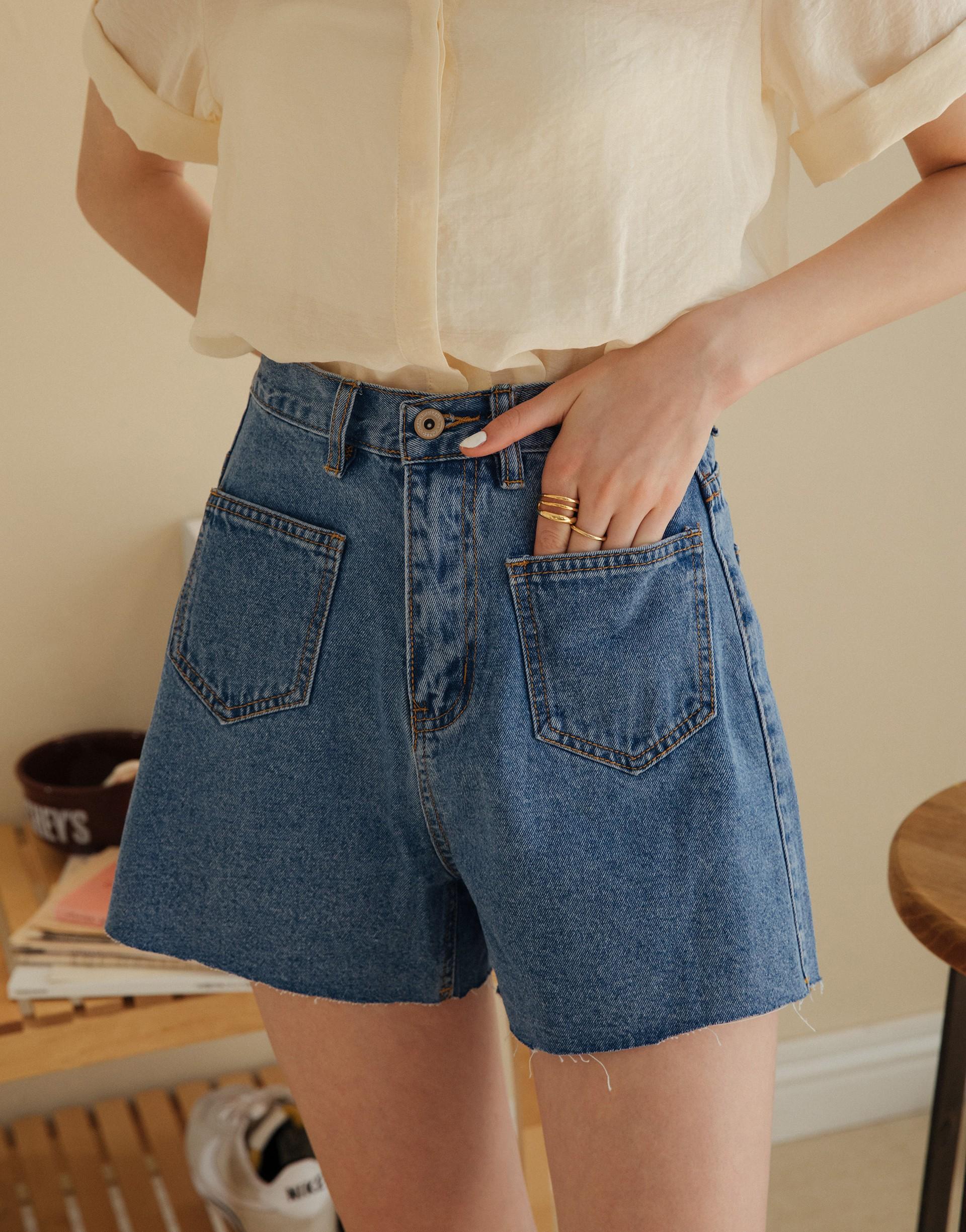 PAZZO+#PS雙口袋造型顯瘦牛仔褲