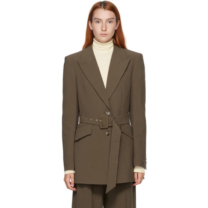 Nanushka 棕色 Honor 西装外套