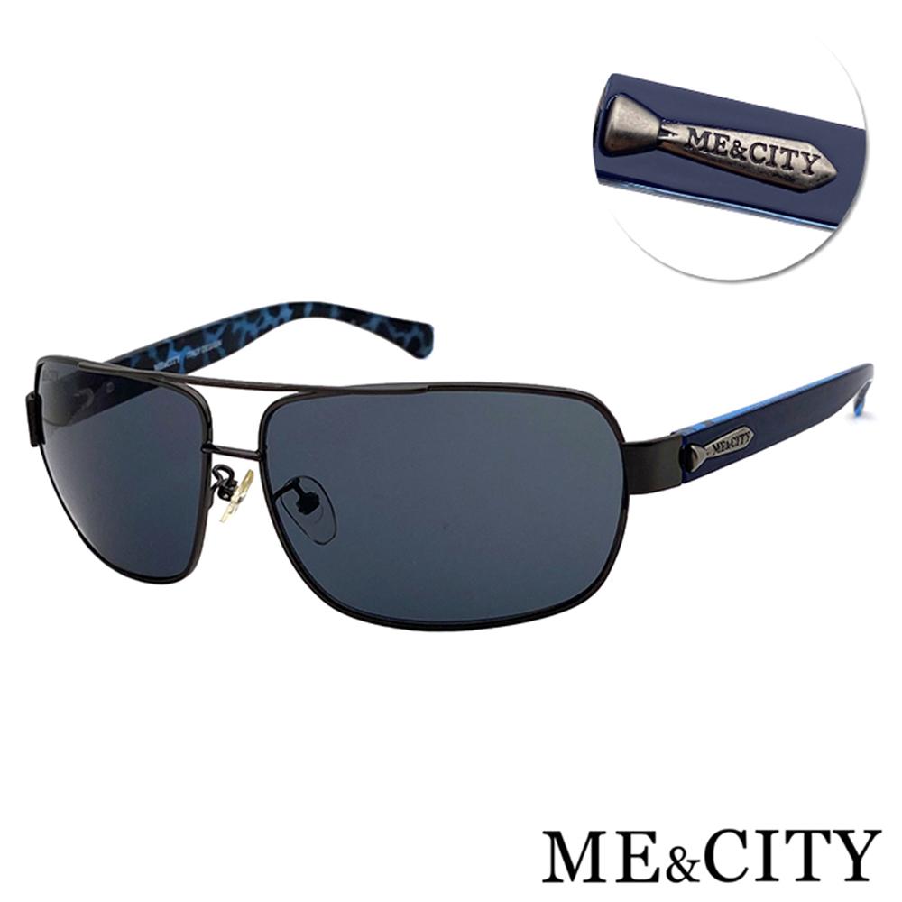 ME&CITY 時尚飛行員金屬方框太陽眼鏡 抗UV400 (ME 110012 C680)