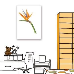 【24mama 掛畫】單聯式油畫布無框畫_40x60cm_熱帶植物13