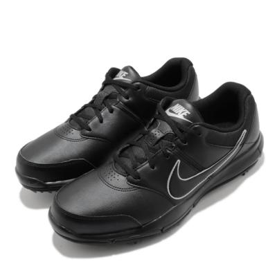 Nike 高爾夫球鞋 Durasport 4 寬楦 男鞋 Golf 運動 避震 包覆 球鞋 皮革 簡約 黑 844551001