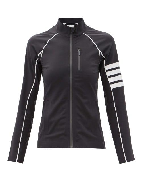 Thom Browne - Four Bar Compressive-shell Track Jacket - Womens - Dark Grey