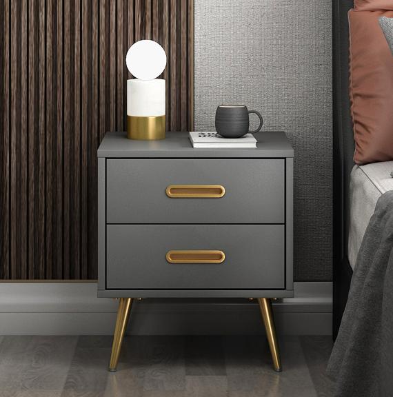 桌子 床頭櫃 收納櫃 儲物櫃 邊櫃 北歐意式極簡床頭櫃 臥室小戶型輕奢風 簡約後現代床邊收納儲物櫃子