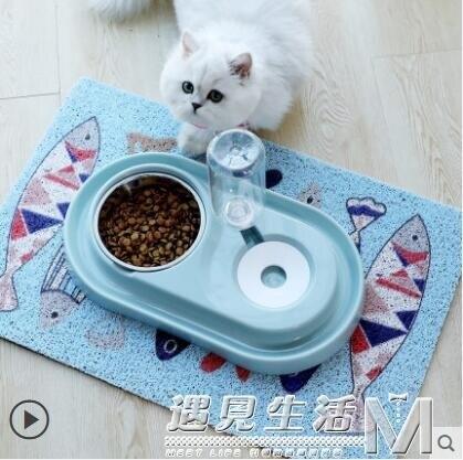 [樂天優選]貓碗狗碗狗狗雙碗自動飲水狗盆狗糧盆用品食盆防打翻貓吃飯狗飯盆