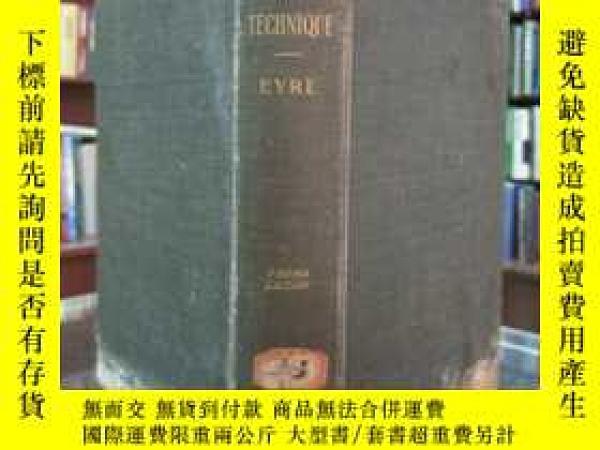二手書博民逛書店Bacteriological罕見technique ----eyre (third edition ) (細菌學