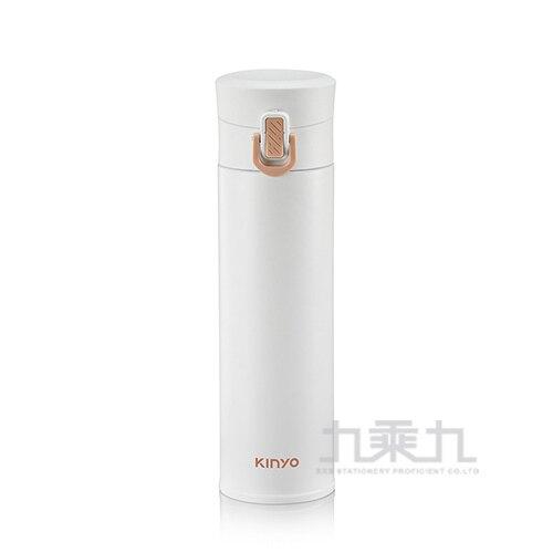 KINYO 304不鏽鋼超輕量保溫杯 白 300ml