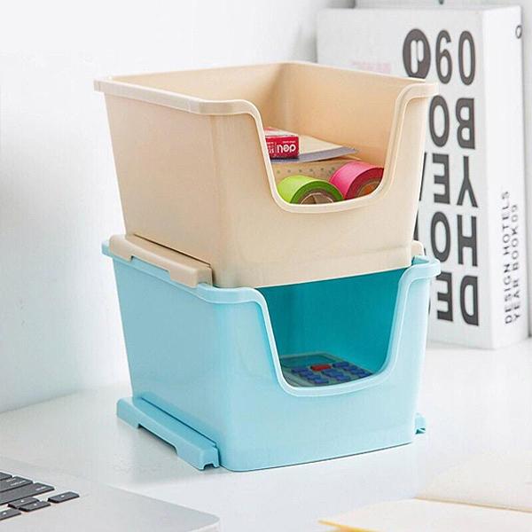 可疊加桌面整理盒 桌面茶几遙控器收納盒 化妝品整理盒 收納盒 小物收納【SV6995】BO雜貨