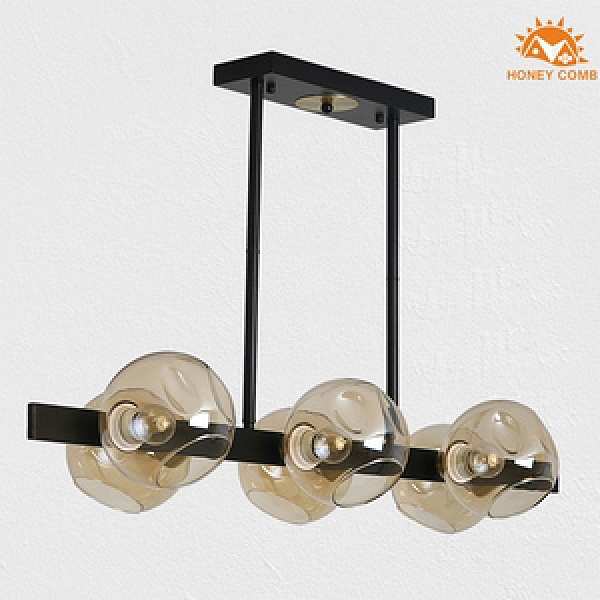 Honey Comb 工業風干邑色玻璃餐廳吊燈 HC-21205