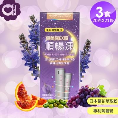 必爾思 凍美窕EX順-順暢凍/酵素果凍 - 3盒組(20克X21條) 日本葛花萃取粉及專利蒟蒻粉 一試就有感