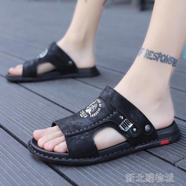 男士涼鞋 夏季越南涼鞋拖鞋男士室外沙灘兩用休閒防滑外穿運 新北交換禮物