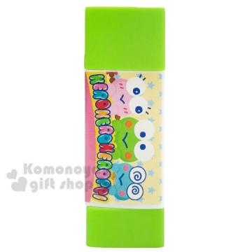 〔小禮堂〕大眼蛙 三角形口紅膠《綠.大臉》膠水.黏貼用品
