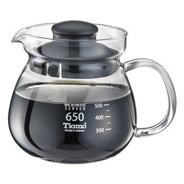 金時代書香咖啡 C'afeDe Tiamo 圓滿咖啡玻璃壺花茶壺 650cc SGS測試合格 HG2202BK