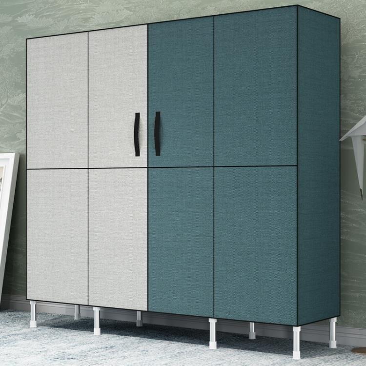 簡易衣櫃布衣櫃鋼管加粗加固雙人家用現代簡約收納布藝柜子掛衣櫥