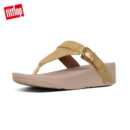 【FitFlop】EDIT TOE-THONGS 可調式扣環夾腳涼鞋-女 黃金色
