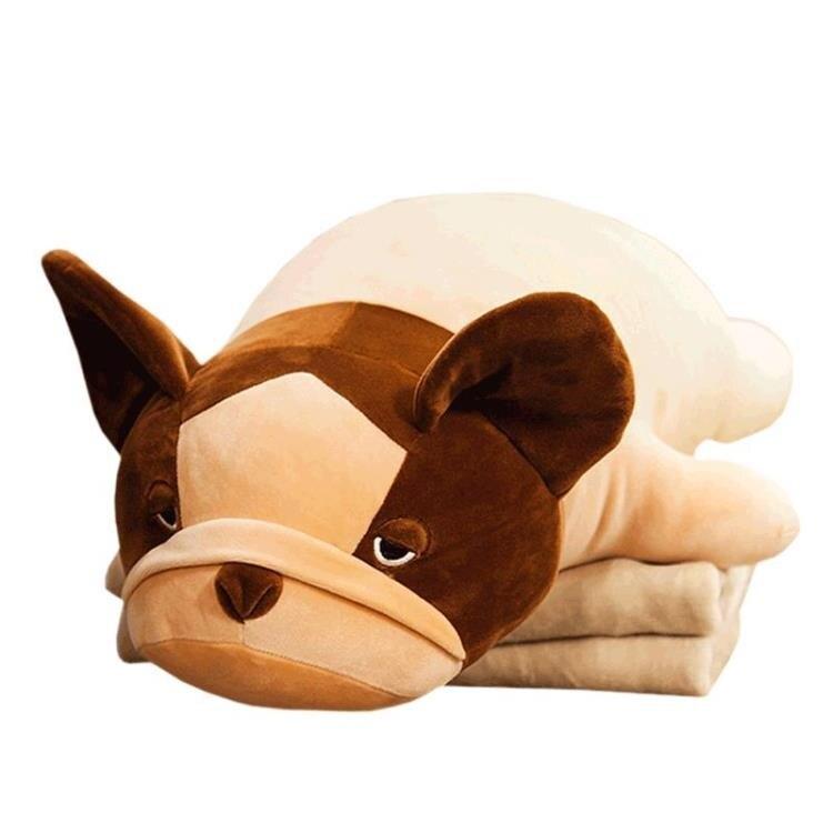 趴趴狗抱枕被子兩用靠墊汽車辦公室午睡枕頭午休空調毯子床頭靠枕 秋冬新品特惠