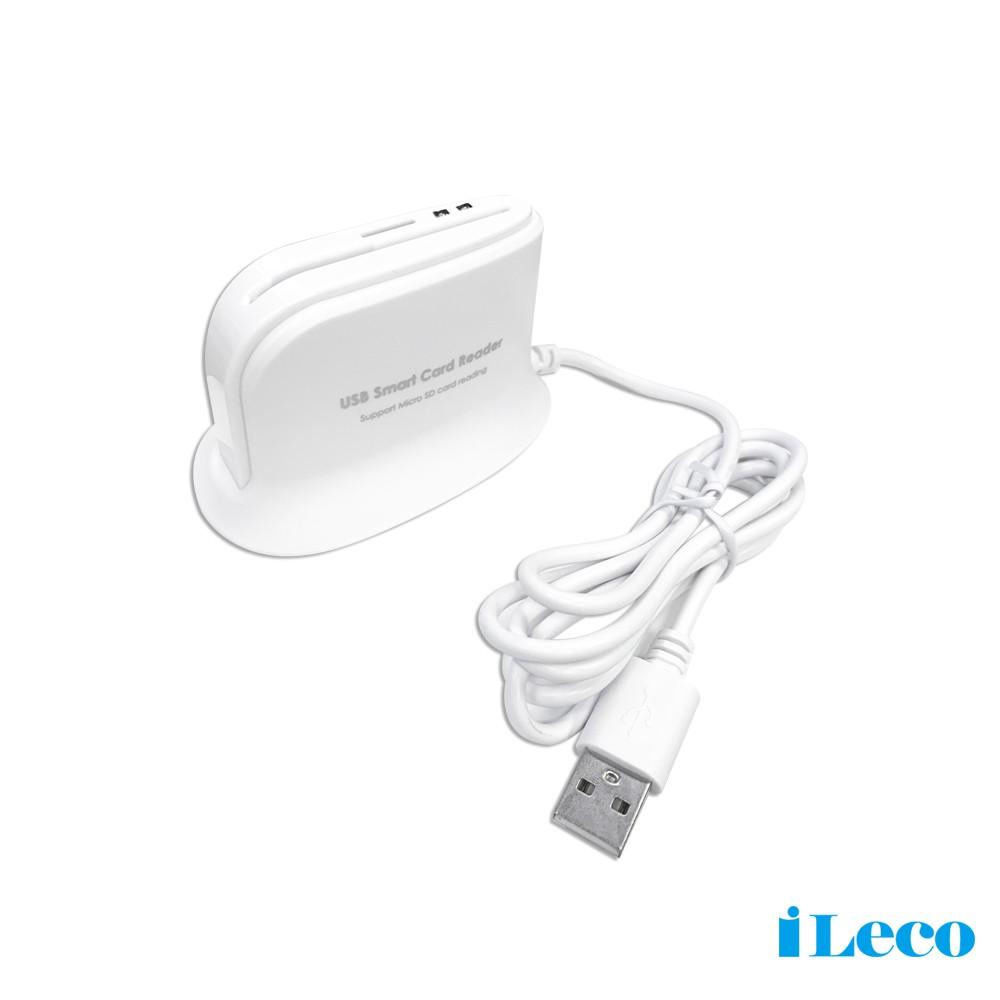 iLeco ATM/Micro SD智慧晶片讀卡機(CR-812)T-FLASH 網路ATM 銀行轉帳 讀健保卡