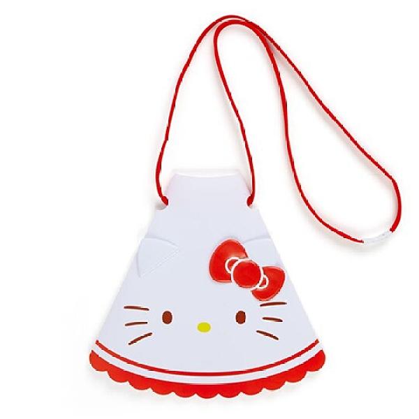 小禮堂 Hello Kitty 造型掛繩傳聲筒 折疊擴音器 隨身擴音器 (紅白 應援啦啦隊) 4550337-64623