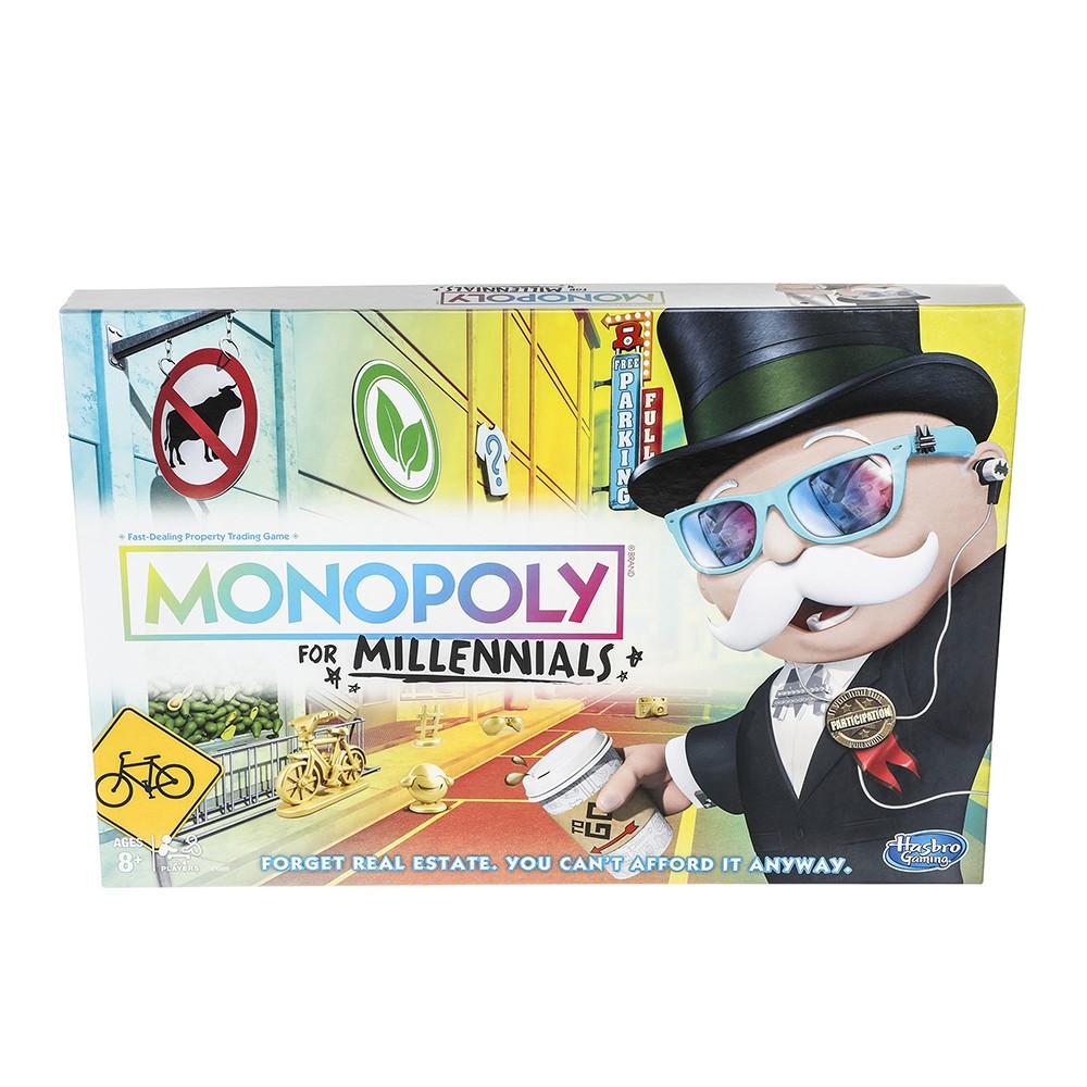 桌遊大富翁 MONOPOLY 地產大亨 千禧世代 中文版【酷比樂】