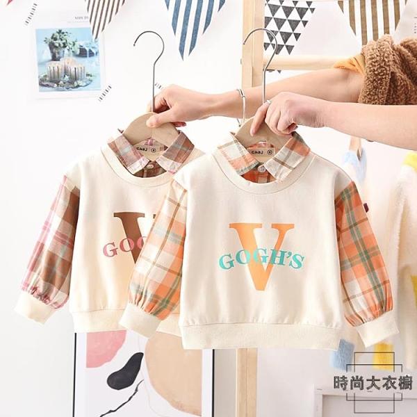 嬰兒衛衣兒童純棉上衣男童翻領長袖薄款外套【時尚大衣櫥】