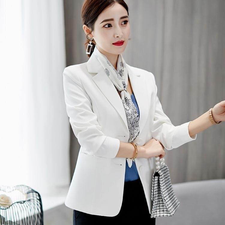 彩黛妃2020春夏新款韓版修身大碼長袖小西裝外套休閒時尚西服女 小山好物 清涼一夏钜惠