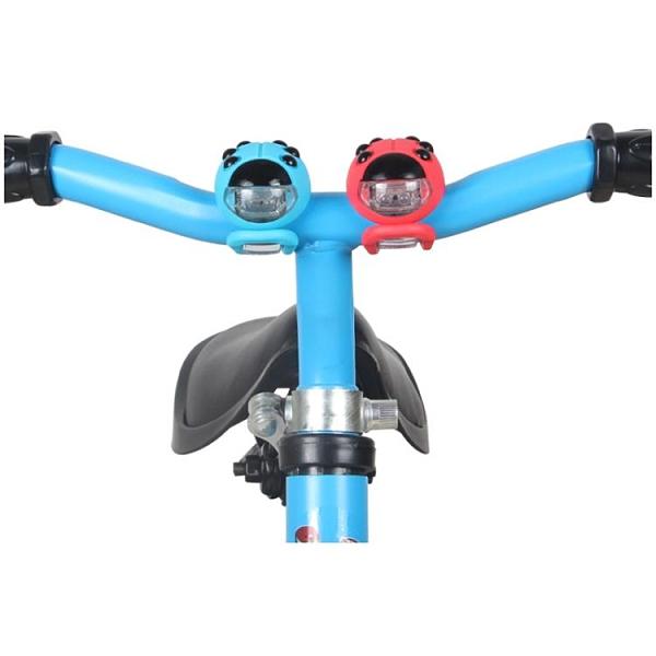 自行車燈 兒童自行車滑步燈閃光夜騎裝飾燈滑板車燈夜間平衡車燈車前燈 芊墨左岸