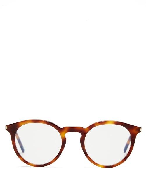 Saint Laurent - Round Tortoiseshell-acetate Glasses - Womens - Tortoiseshell