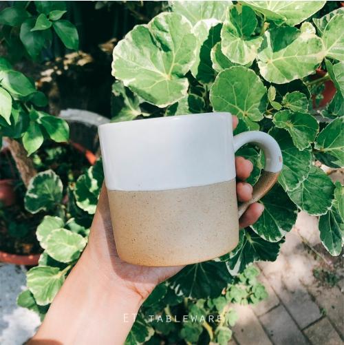 【預購】 - 羅馬粗陶 Φ8cm 陶瓷咖啡杯 經典白 單個  馬克杯 茶杯 水杯 果汁杯 -外星人餐具