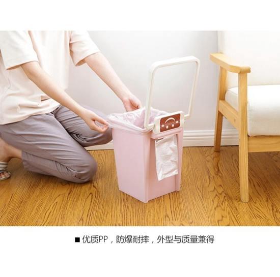 垃圾桶 大號方形無蓋垃圾桶筒衛生間廁所廚房家用客廳臥室塑料可愛壓圈