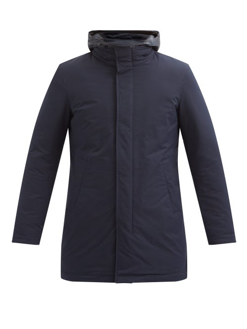 Herno - Giaccone Quilted-lining Down Coat - Mens - Navy
