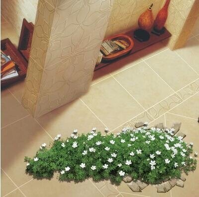 3D地貼 客廳地貼紙店鋪裝飾3d立體貼防水耐磨臥室墻貼花草3d地板貼紙