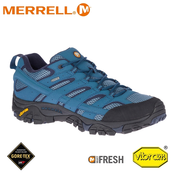 【MERRELL 美國 男 MOAB 2 GORE-TEX多功能鞋《銀河藍》】ML034787/防水鞋/健行鞋/登山
