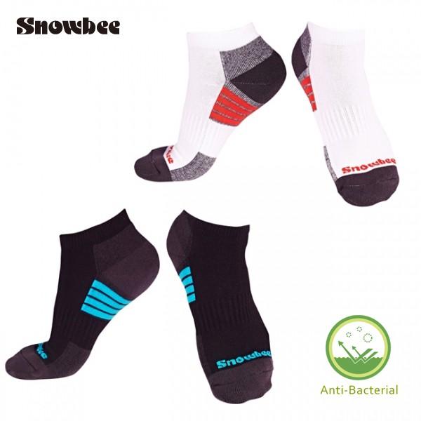 SNOWBEE甲殼素抗菌除臭配色健康襪 (船型襪)
