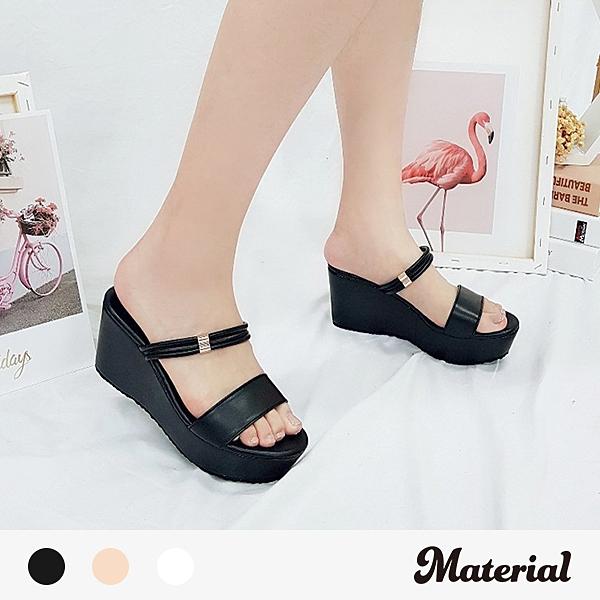 涼鞋 簡約兩穿楔型涼鞋 MA女鞋 T6723