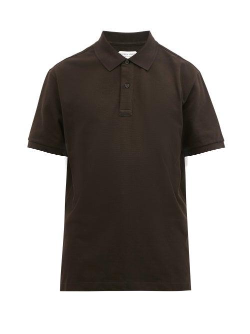 Bottega Veneta - Cotton-piqué Polo Shirt - Mens - Brown