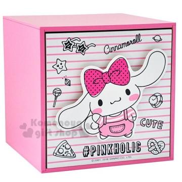〔小禮堂〕大耳狗 桌上型單抽收納盒《粉白.抽屜櫃.木製櫃》