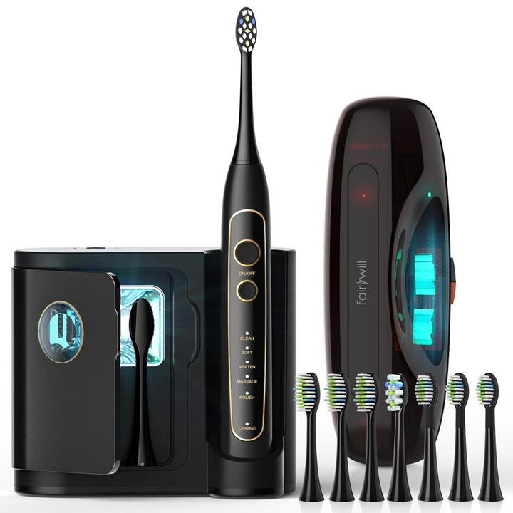 【美國代購】Fairywill PRO電動牙刷 具有5種模式的超聲波功率美白牙刷 無線充電