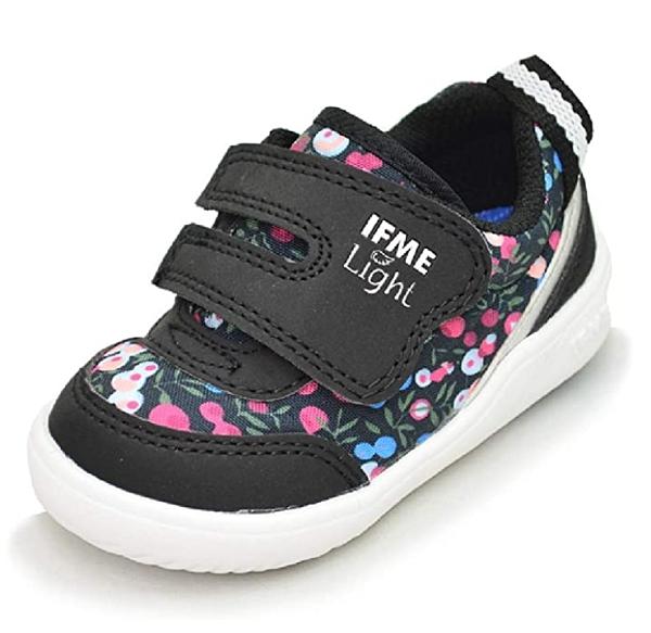 (B5) IFME健康機能鞋 Light超輕學步鞋款 IF22-970003 黑碎花 (寶寶段) [陽光樂活]