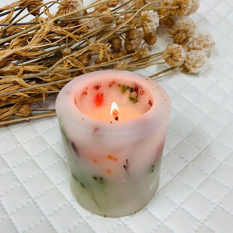 香氛 花草蠟燭 乾燥花 永生花 手工藝術蠟燭