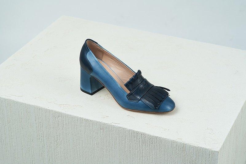 HTHREE 6.5 流蘇高跟鞋 / 燻藍 - Smoke Blue / 6.5 Tassel Pumps
