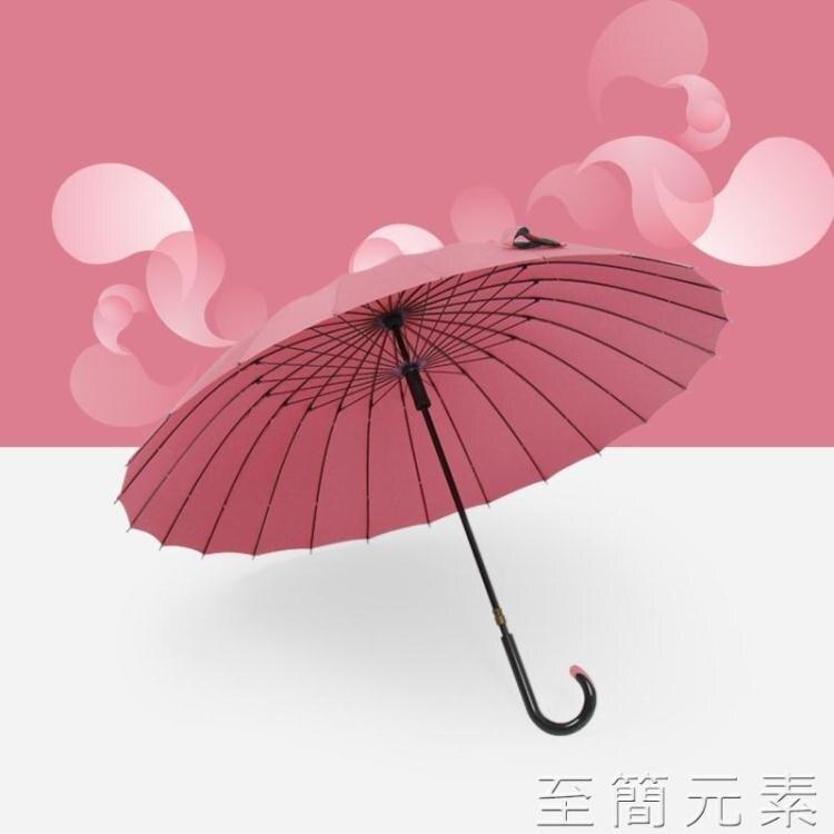 杜帛24骨雨傘長柄雙人加固傘抗風復古男士加大號防風ins森系女傘