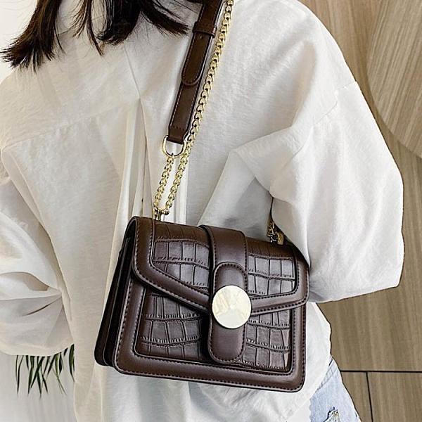 港風復古小包包女包2020流行新款潮時尚百搭鏈條斜挎包網紅小方包『新佰數位屋』